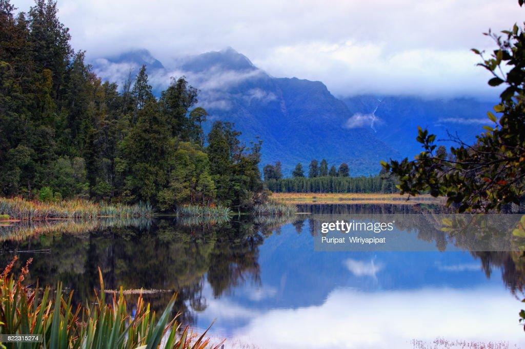 Lake Matheson : Stock Photo