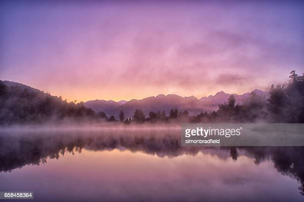 Lake Matheson Reflections On New Zealand's South Island