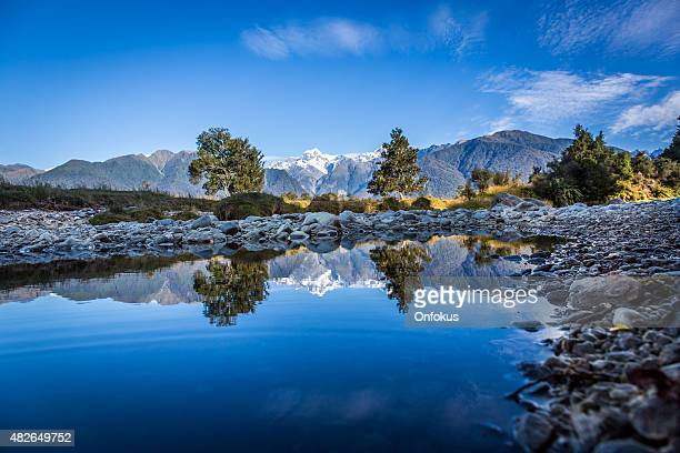 Lake Matheson Reflections Panorama, New Zealand
