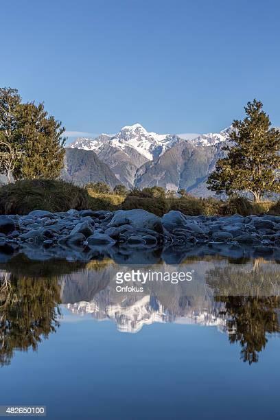 Lake Matheson Reflections Panorama, New Zealand