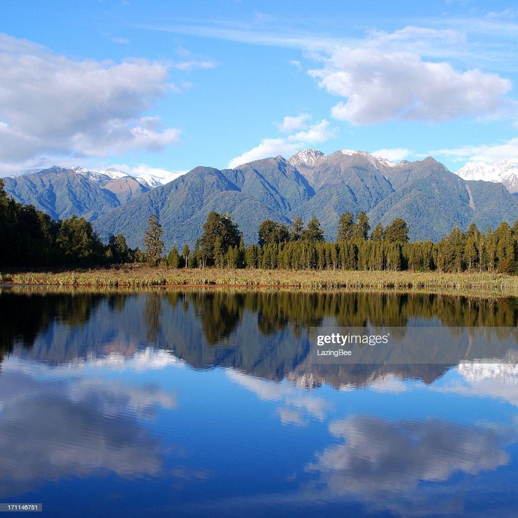 Lake Matheson, West Coast, New Zealand : Stock Photo
