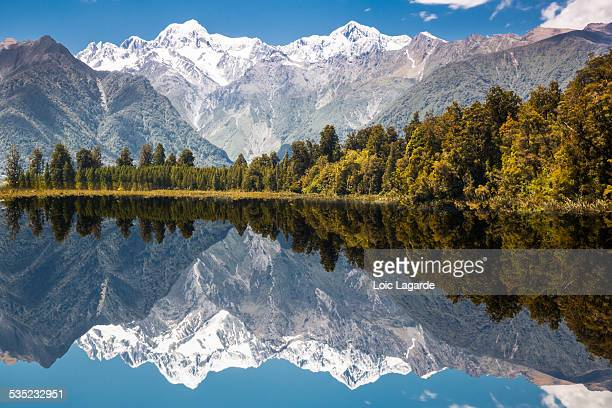 Lake Matheson with Mount Cook mirrored