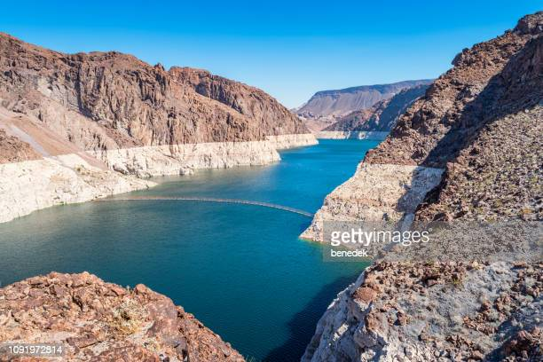 lake mead and black canyon at hoover dam between nevada and arizona usa - colorado river stock pictures, royalty-free photos & images