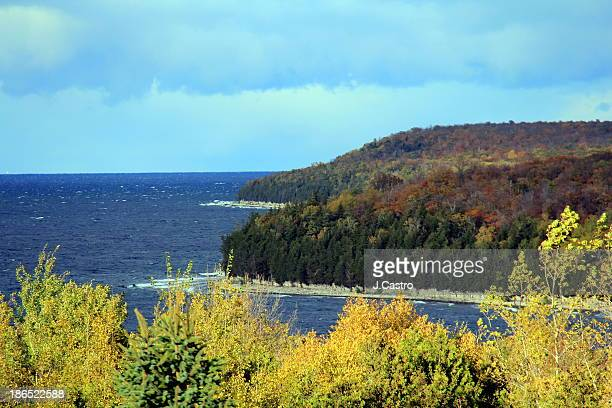 lake michigan, door county - wisconsin - staadts,_wisconsin stock pictures, royalty-free photos & images