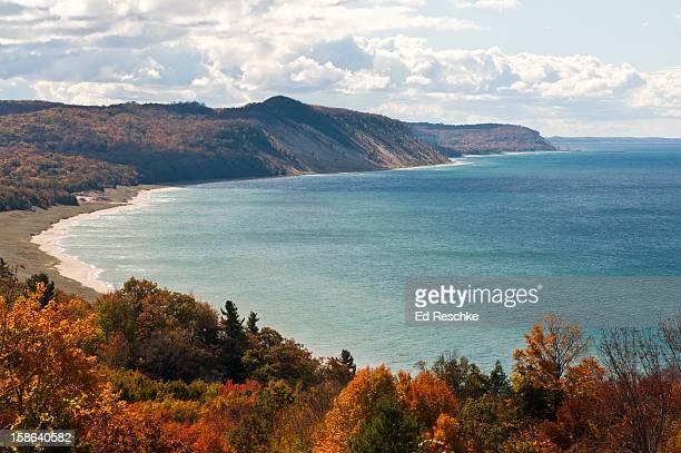 lake michigan dunes--green point dunes - lake michigan stock pictures, royalty-free photos & images