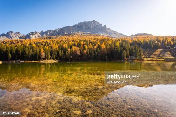 lake misurina - ベッルーノ ストックフォトと画像