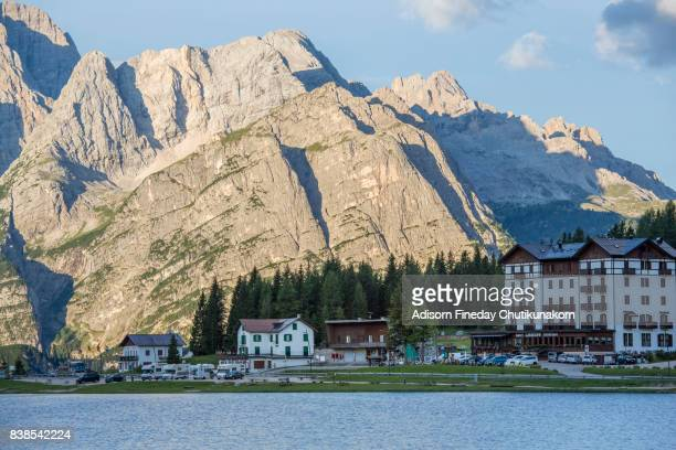 Lake Misurina,Dolomites in summer
