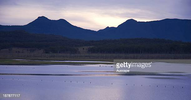 Lake Moogerah water supply for Boonah and Ipswich and for Swanbank Power Station with the national park beyond In 1995 drought reduced the reservoir...