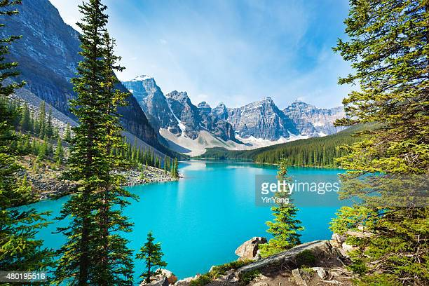 Lake Moraine in Banff National Park Alberta, Canada