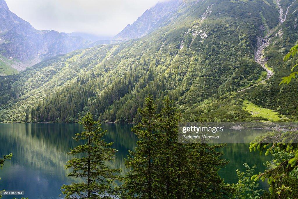 Lake Morskie Oko : Foto de stock