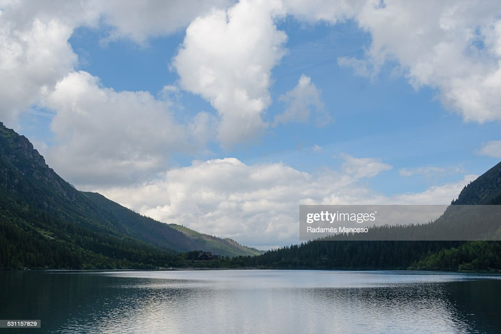 Lake Morskie Oko : Foto de stock