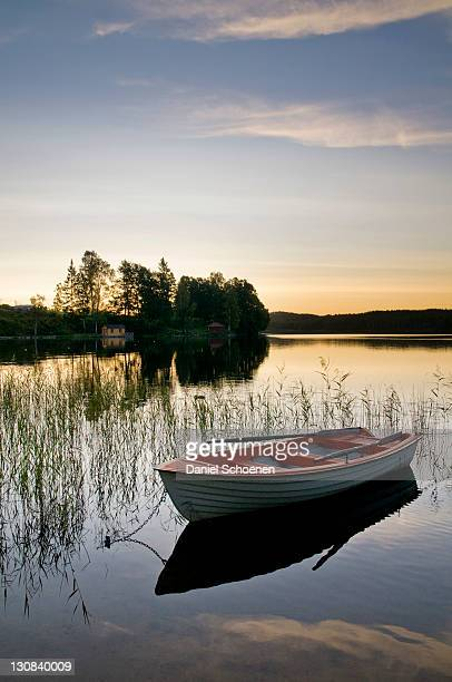 lake near bengtsfors, dalsland province, sweden, scandinavia, europe - dalsland stock photos and pictures