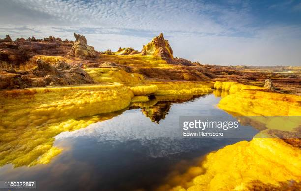 lake of acid - danakil depression stock pictures, royalty-free photos & images