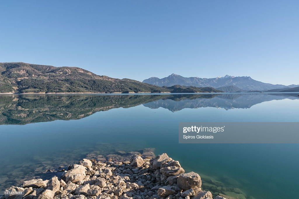 Lake of Kremasta : Bildbanksbilder