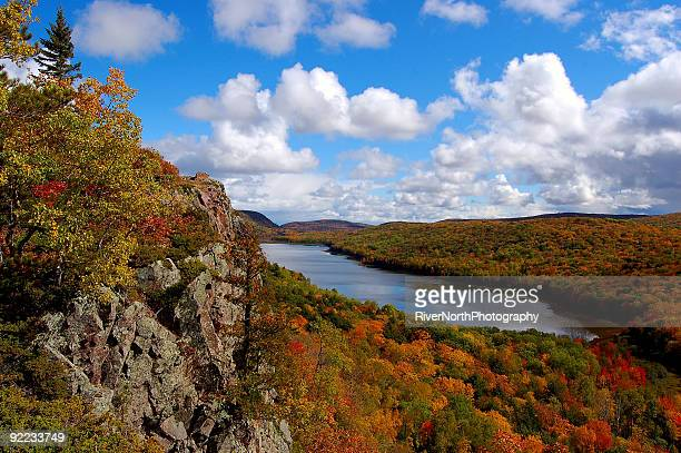 lake of the clouds, upper peninsula michigan - upper peninsula stock pictures, royalty-free photos & images