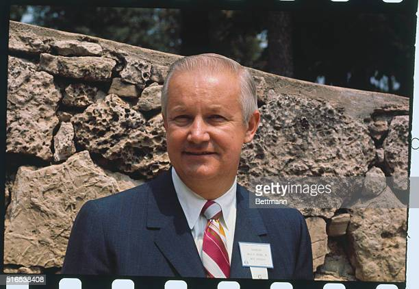Lake of the Ozarks MO Governor Arch A Moore Jr of West Virginia is shown outdoors in head and shoulders shots at the National Governors' Conference