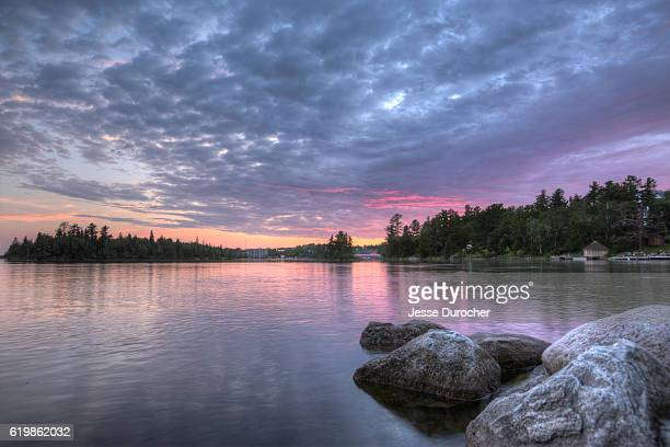 lake of the woods - kenora stock pictures, royalty-free photos & images