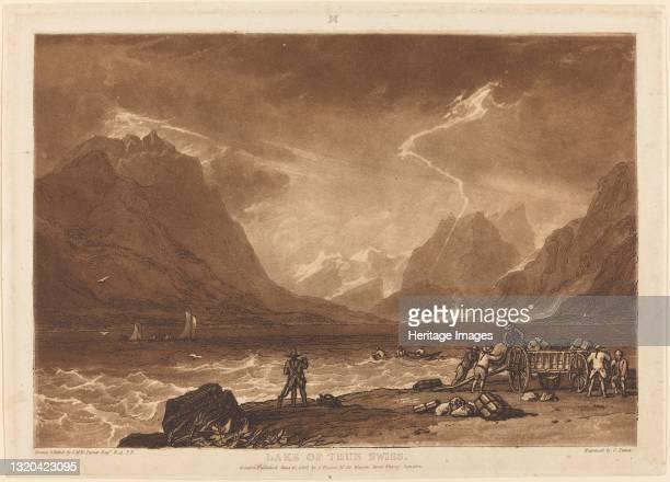 Lake of Thun, published 1808. Artist JMW Turner.
