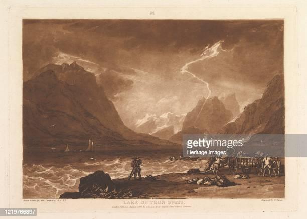 Lake of Thun, Swiss , June 10, 1808. Artist JMW Turner.