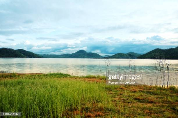 lake on the mountain - georgia country stock pictures, royalty-free photos & images
