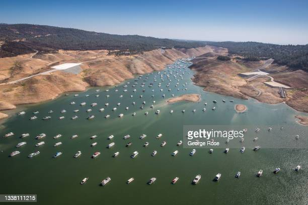 Lake Oroville, California's second largest water reservoir fed by the Feather River, is at 23% capacity and at historically low levels impacting...