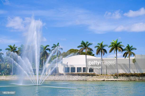lake osceola at university of miami in coral gables, fl - coral gables stock pictures, royalty-free photos & images
