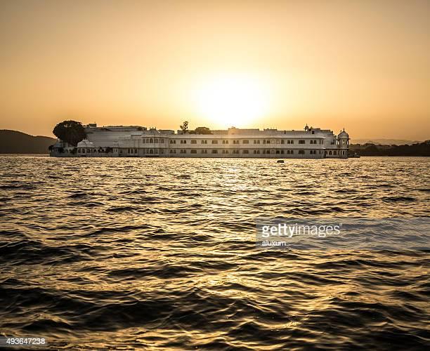 Lake Palace at sunset Udaipur India