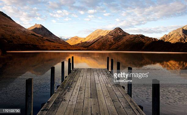 lake - wellington new zealand stock photos and pictures