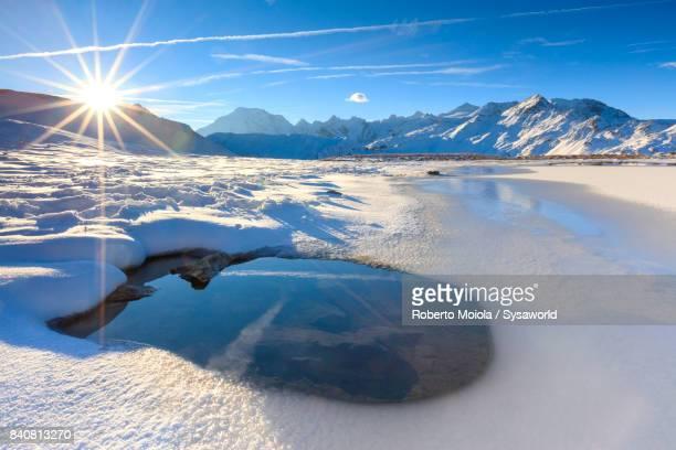 Lake Piz Umbrail, Valtellina, Italy