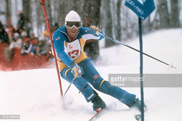 Ingemar Stenmark used his standard comefrombehind technique to win the men's special slalom event at the 1980 Olympics The 'silent Swede' made up...