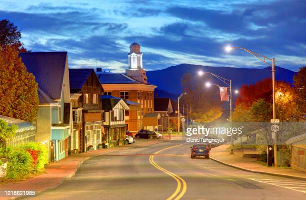 lake placid, new york - small town stock pictures, royalty-free photos & images