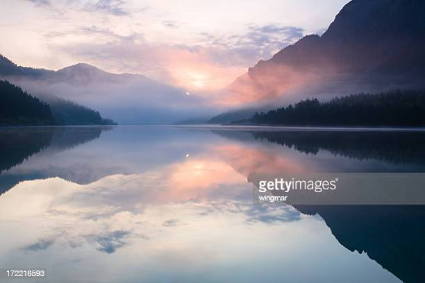 lake plansee - buddhism stock pictures, royalty-free photos & images