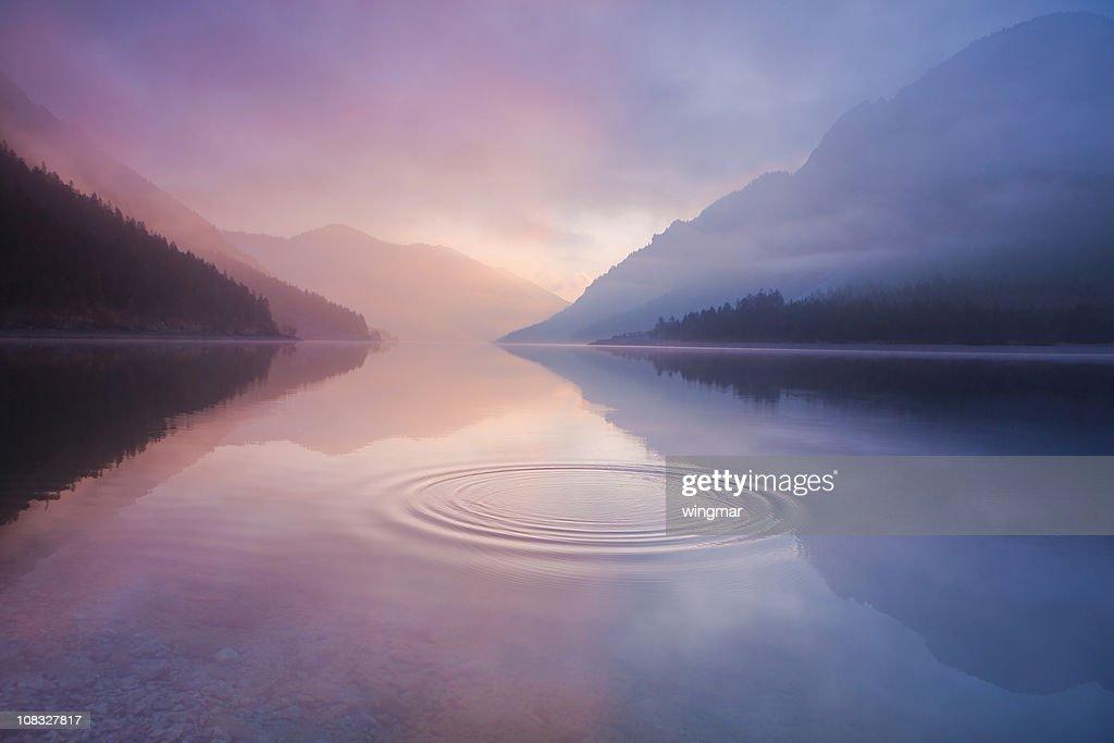 lake plansee, tirol, Österreich : Stock-Foto