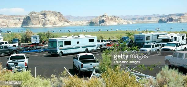 Lake Powell Page Arizona USA Recreational Vehicle Parking Area