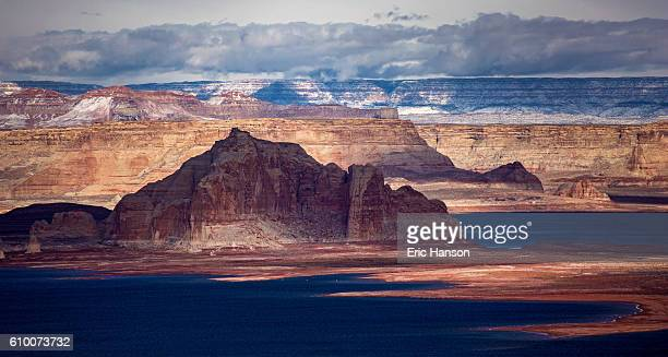 Lake Powell with Snow and Clouds
