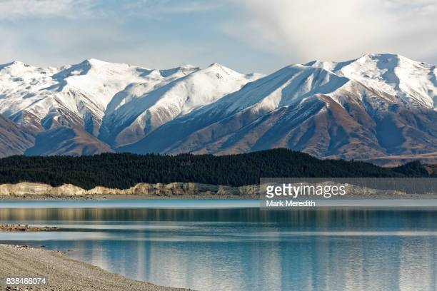 Lake Pukaki and snow-capped Southern Alps, Canterbury, New Zealand