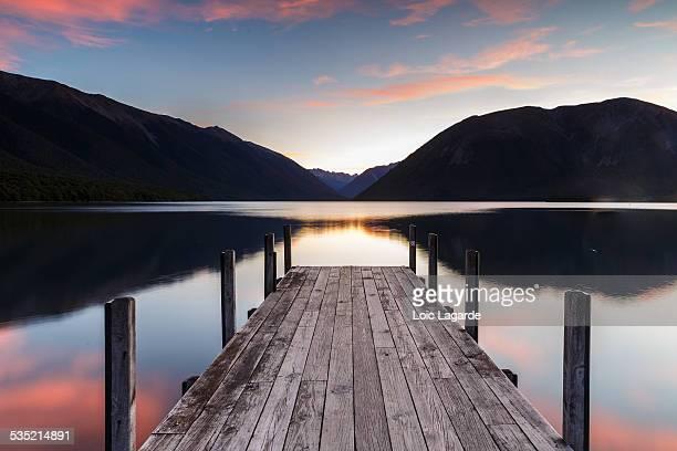 Lake Rotoroa at Dusk in Nelson Lakes National Park