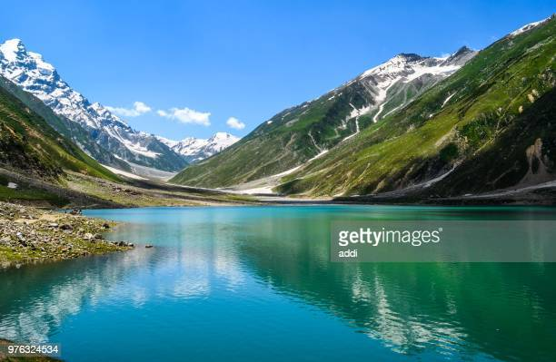 lake saiful maluk and kaghan valley, naran, khyber pakhtunkhwa, pakistan - pakistan stock pictures, royalty-free photos & images