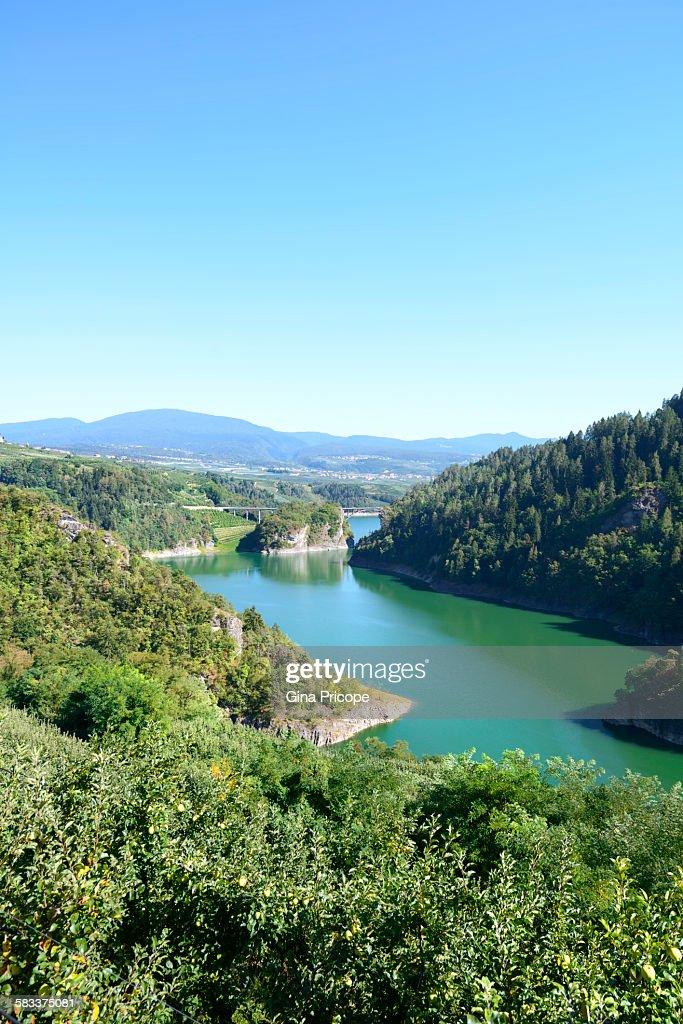 Lake Santa Giustina in Val di Non, Italy : Stock Photo