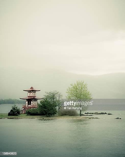 Lake scene in Japan