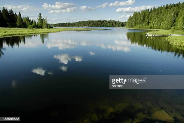 Lake scenery in Finland