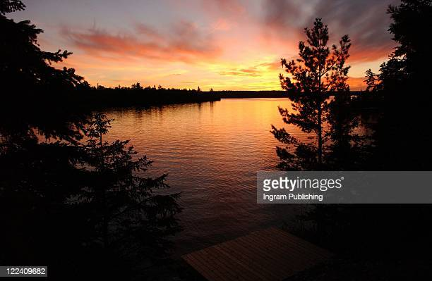 lake scenes - kenora stock pictures, royalty-free photos & images