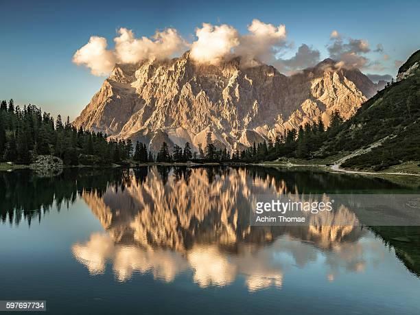 Lake Seebensee with Zugspitz Range, Tyrol, Austria