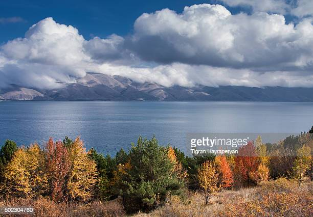 Lake Sevan in Armenia in autumn