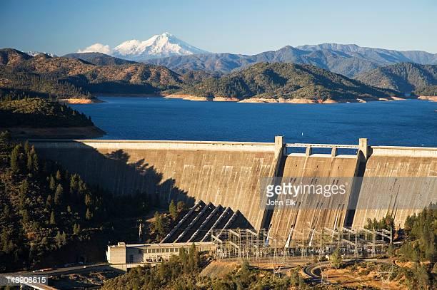 Lake Shasta, Mt Shasta and Shasta Dam.