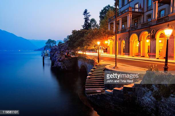lake side beauty - lake como stock pictures, royalty-free photos & images