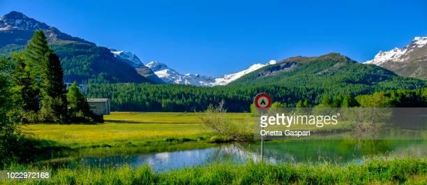 Lake Sils, No Camping Sign (Graubünden, Switzerland)
