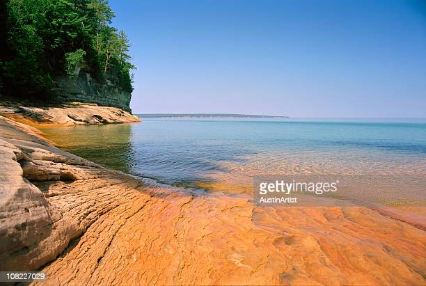 lake superior - munising michigan stock pictures, royalty-free photos & images