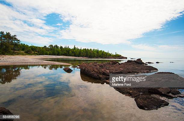 lake superior - lake superior provincial park stock pictures, royalty-free photos & images