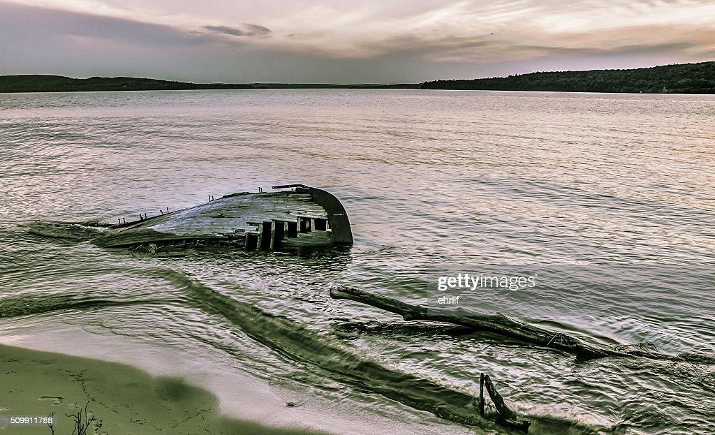 Lake Superior Shipwreck Coast In Pictured Rocks : Stock Photo